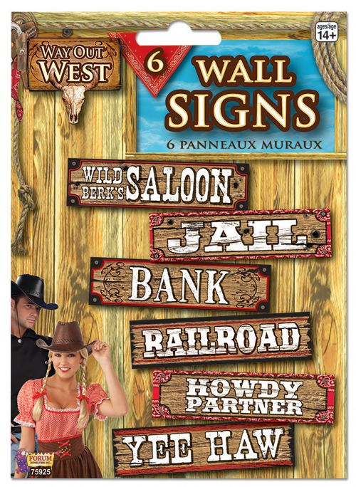 Way Out West Signs Cowboy Party Decoration Wild West Party Decoration
